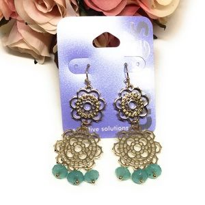 💋6for$20💋 Mint dangle earrings